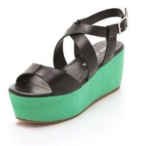 Pour La Victorie Noele Platform Sandals 8.5 Black